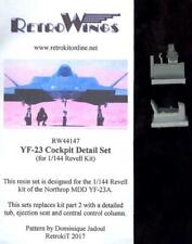 RetroKits Models 1/144 NORTHROP YF-23 COCKPIT DETAIL SET Resin Update Set