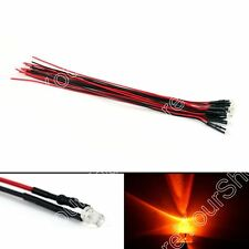 9V 12V 3mm 5mm 8mm 10mm Pre Wired LED Lamp Light Emitting Diode 9Colour 20cm B1