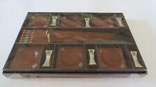 ENGAVE temple -tuk-tuk car  SILVER STYLE  BOX CHOPSTICK +REST+BOWL 6+6+6