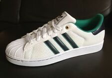 Mens ADIDAS ORIGINALS SUPERSTAR II Classic Shoes White/ Black/ Green US size 13