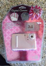 "Digital Camera Glitz And Glitter Stickers 1.4"" Color Display Flash Pink Girl New"