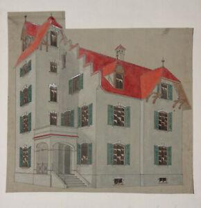 Original Architekturzeichnung um 1900