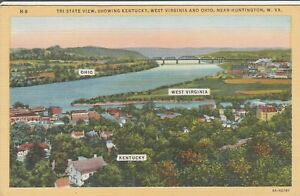 *(O)  Huntington, WV - Tri-State View with Ohio, Kentucky and WV Cited