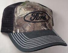 Hat Cap Licensed Ford Black Mesh Camo CF