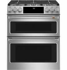 "New ListingGe Cafe Convection Cgs750P2Ms1 30"" Stainless Steel Double Oven Gas Range Stove"