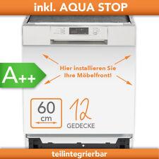Geschirrspüler teilintegriert 60cm Aquastop Einbau Spüler Spülmaschine Edelstahl
