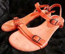 b3cf3f989824 WOMENS CLARKS RED LEATHER ADJUSTABLE LOW HEEL SANDAL SHOES UK SIZE 6 EURO 39