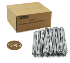 """6"""" Landscape Staples Stakes Pins Set Box Ability Metal Fabric Anchor Garden Dog"""