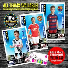 Match Attax Card Style Personalised Birthday Invitations Football Party X 5