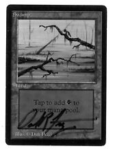 Swamp (Vers.3) Signed Dan Frazier - BETA Edition - Old School - MTG Magic
