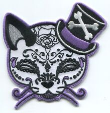 MARTINI TOPHAT KITTY by miss cherry IRON-ON PATCH **FREE SHIPPING** -y ph538 cat