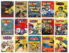 BATMAN VINTAGE COMIC ISSUE #46 TO  #60,  15  PHOTO FRIDGE MAGNETS