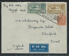 INDIA (P2806B) KGV 1934 A/M 2A+6A  + 2A6P TO ENGLAND