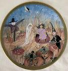 PAT+BUCKLEY+MOSS+Folk+Art+Pumpkin+Patch+Plate+1997+Halloween+Anna+Perenna