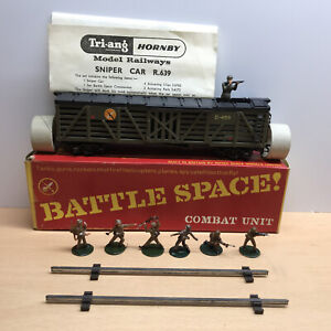 Triang Hornby  Battle Space R639 Sniper Car with Commandos. Boxed VERY RARE