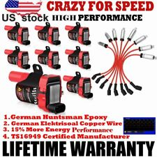 8x D585 UF-262 Ignition Coils + Spark Plug Wires For Chevrolet 1500 GMC LS1 LS3