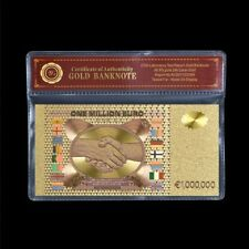 WR Colour Gold €1 Million Euro Note Novelty Collector Banknote In COA Sleeve