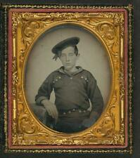 Unidentified Young Sailor,Union Uniform,Navy,American Civil War,Military,c 9784