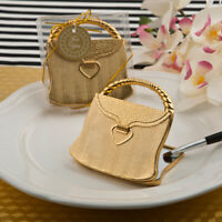 Elegant Reflections Collection Gold Purse Design Compact Mirror