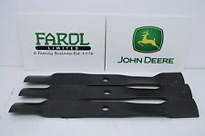 More details for genuine john deere blades m145719 deck ride-on mower set of 3 x495 x740 x748