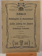FESTSCHRIFT ENTHÜLLUNGSFEIER DES BRUNNENDENKMALS WEISSENBURG 1903