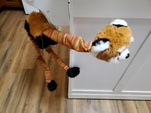 Hand made recycled/upcycled raccoon marionette puppet.String can be untangled