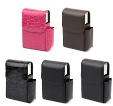 Portable Cigarette Leather Case Set , Can Hold Cigarette And Lighter