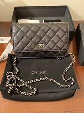 Chanel Classic Wallet on Chain (WOC) Black Caviar