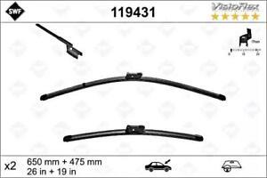 "SWF Front Wiper Blade 2pcs 650 475 mm 26/19"" Fits BMW OPEL RENAULT 288909504R"