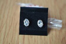 0.76ct Ice Blue Beryl Solitaire Earrings 6 prong Sterling Silver 925  ~ VVS