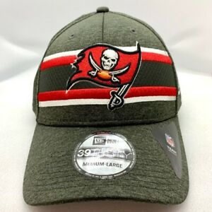 Tampa Bay Buccaneers NFL Sideline 39THIRTY Flex Hat Ball Cap Pewter Red & White