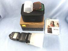 New listing Nikon Sb-910 Speedlight Flash, Box, Soft Case, Diffuser, Mint