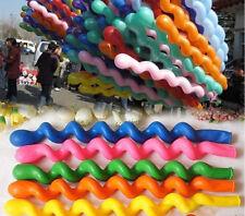10PCS New Twist Spiral Latex Balloons Wedding Kids XMAS Birthday Party Decor DIY