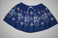 NUEVO Gymboree Azul Con Estampado Floral Falda Talla 4 ETIQUETA Desierto Dream