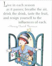 Henry David Thoreau-Live Each Season-Handcrafted Magnet-W/Mary Engelbreit art
