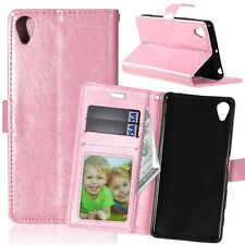 Flip Leather Wallet Case Magnet Stand Card Slots Cover For Sony Xperia Phones