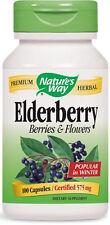 Black Elderberry (Elderberry Berries & Flowers) - 100 Capsules - Nature's Way