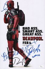 "~~ DEADPOOL Cast X3 Authentic Hand-Signed ""RYAN REYNOLDS"" 11x17 Photo (JSA COA)"