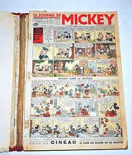 Journal de MICKEY lot des n°107 à 155 - novembre 1936 à octobre 1937