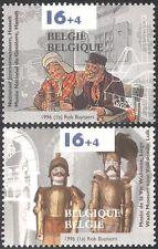 BELGIQUE 1996 gin/Alcool/boisson/Marionnettes/Museum/Théâtre/soldats 2 V Set (n22919)