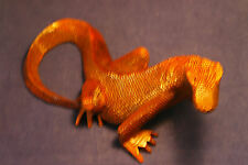 """Superb Hand Carved Lizard  11"""" x .5"""" Inches Wide In Suar Wood"""