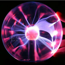 Plasma Ball Light Lamp Sound 6 Touch Sensitive Peace Sign Design Electric