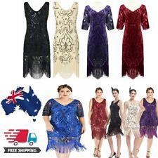 1920s Flapper Dress Vintage Women Gatsby Sequins Fringeds Cocktail Party Dresses
