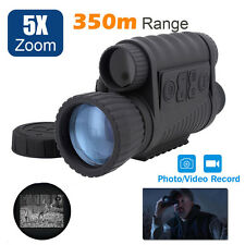 Handheld Infrared Night Vision Monocular Hunting Scope 6X50 Zoom Record DVR Pics