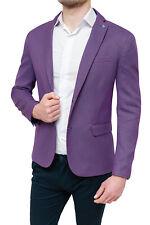 Men's Jacket Sartorial Violet Plum Slim Fit Elegant Youth 100% made Italy