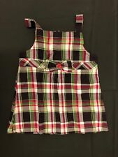NWT Gymboree Girls Pups and Kisses Plaid Bow Swing Top Size 7