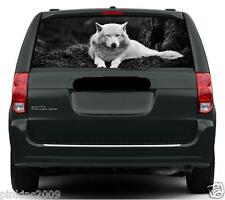 White Wolf Black and white Rear Car Window Vehicle Graphic Sticker/Decal