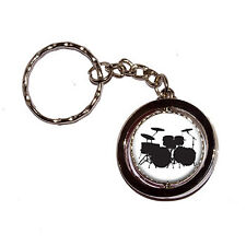 Drums Drumset - Key Chain Keychain Ring