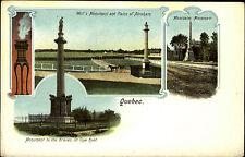 Quebec Kanada vintage postcard ~1900/1905 Monument Wolf's Montcalm to the Braves