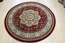 RED  Traditional Persian Medallion Oriental ROUND Rug Size 150x150cm Now 30% OF